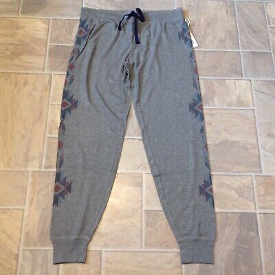 Pj Salvage Winter Escape Jogger Pants Heather Gray Sz Large Nwt
