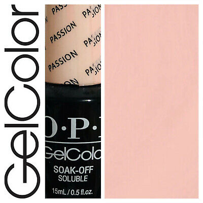 OPI GelColor Soak Off Gel Polish PASSION Pink 15ml  New  Free Postage