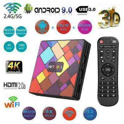 HK1 Cool Android 9.0 Smart TV Box 4K Quad Core WIFI Bluetooth IPTV HDMI Top Box