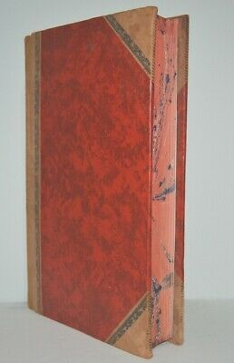 Big Heavy Leather Suede Bound Marbled Page Edges Made in Australia Writing Book