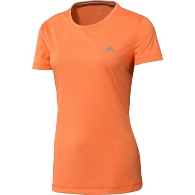 adidas Prime Womens Sports ClimaLite Fitness T-Shirt Tee Orange