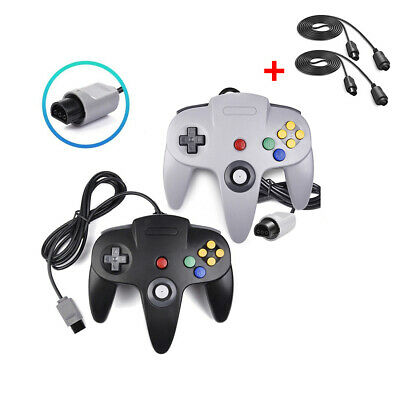 2 Pack Wired N64 Controller Gamepad Joystick for Nintendo 64 Video Game Console