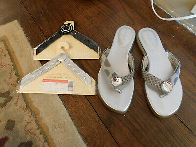 Lindsay Phillips Switch Flops-Straps MEREDITH Blue Floral Switchflops S M L New