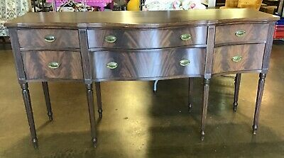 Antique Baker Furniture 6 Drawer Brown Mahogany Buffet Table Local Pick Up Only