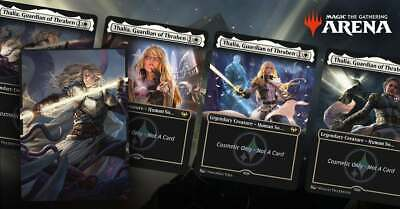 MTG Arena CODE ONLY Secret Lair Thalia:Beyond the Helvault Deck Sleeves In Hand