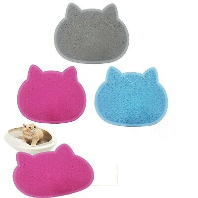 Cat Face Shaped PVC Non Slip Bowl Feeding Mat Placemat for Pet Dogs and Cats