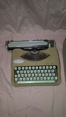 Hermes Rocket Portable Typewriter- Made in Switzerland - Antique - Vintage