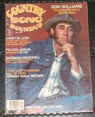 Country Song Roundup magazine DON WILLIAMS May 1978 Johnny Mack Brown