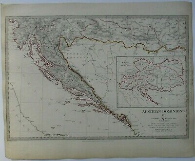 Antique map of the Dalmatian Coast by SUDK 1832
