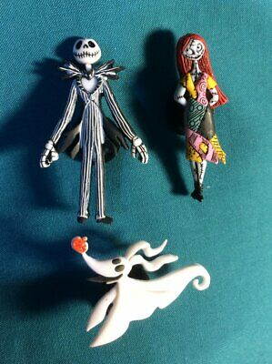 Jack Skellington & Sally ZERO Nightmare Before Croc Hole Accessories Shoe Charms