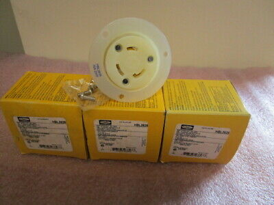 Hubbell Hbl2626 Twist Lock Flanged Receptacle-Lot 0F (3)