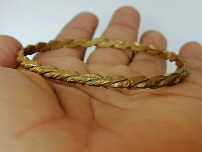 Extremely Rare Ancient Viking Bronze Bracelet Artifact Quality Very Stunning