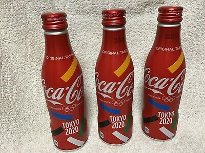 NEW Japan  coca cola  2020 olympic Tokyo limited 250ml full bottle aluminum X3