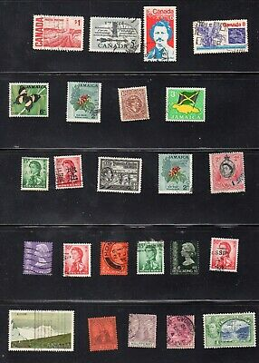Lot 75 BRITISH COMMONWEALTH STAMPS loose in packet lightly hinged pre mid 80s