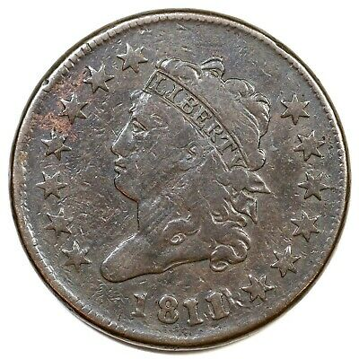 1811/0 S-286 R-3 Classic Head Large Cent Coin 1c