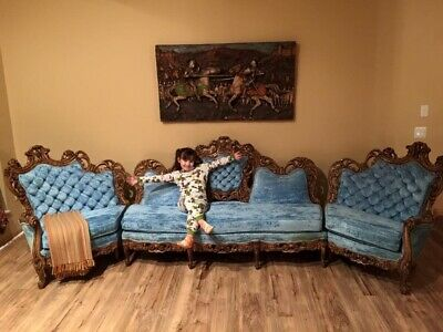 Antique Victorian Sofa Couch 12 feet long BEAUTIFUL!!!
