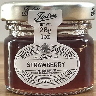 22 x 28g Mini Tiptree strawberry jams Ideal For Afternoon Teas/Wedding Favours