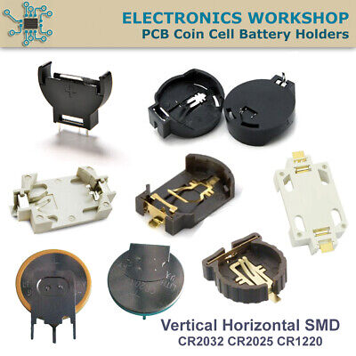 PCB Coin Cell Holder CR2032 CR2025 CR2016 Battery Vertical Horizontal SMD