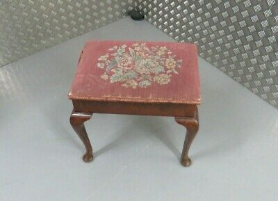 Antique ottoman piano stool on cabriole legs