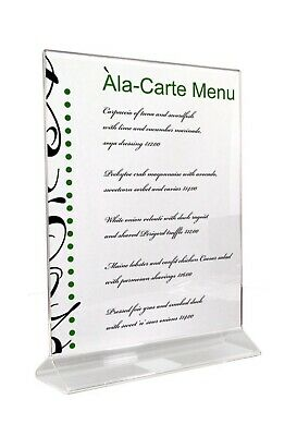 Azar Displays 152714 8.5-Inch Width by 11-Inch Height Double-Foot Acrylic Sign