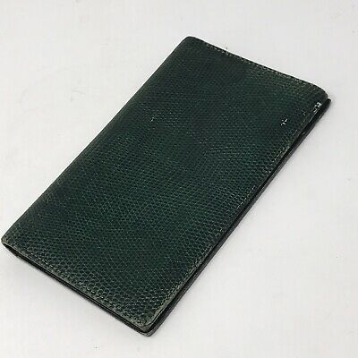 Vintage Hermes Green Lizard Checkbook, notebook and/or agenda cover