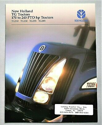 "Original 2002 New Holland Tg Series Tractors Brochure ~ 12 Pages ~ 8.5"" X 11"""