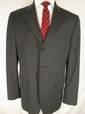 Banana Republic Modern Mens Charcoal 3 Btn Suit 42L
