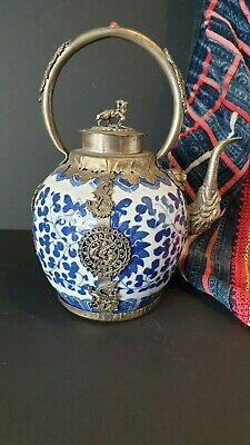 Old Chinese Ornate Porcelain Tea Pot …beautiful collection and display piece