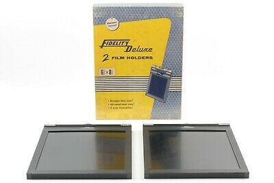 【 BOXED UNUSED Lot of 2 】 Fidelity Deluxe 8x10 Sheet Film Holder from JAPAN #727