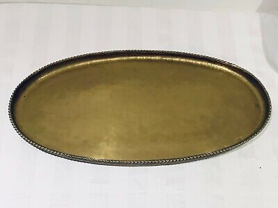 Hugh Wallis Large Brass Arts & Crafts Oval Tray Circa Early 20th Century