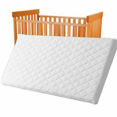BABY COT BED TODDLER QUILTED MATTRESS WATERPROOF BREATHABLE 120 x 60 x 7 CM
