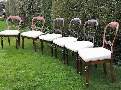 Antique Dining Chairs Edwardian Set of 6