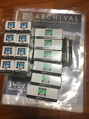 (9)Rolls Ilford FP4, (6) HP5 - Black & white print film 120, 400 COLD STORED