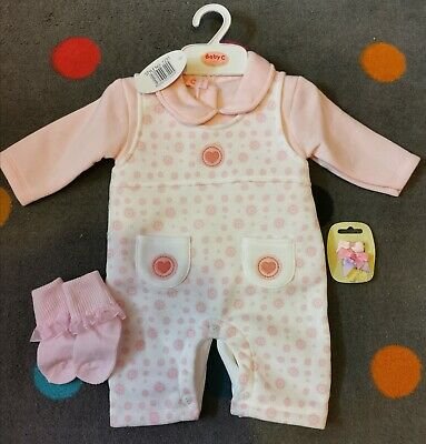 New Baby Girls Age 6-9 Month Romany Spanish Style Romper Outfit Set 4 Piece cute