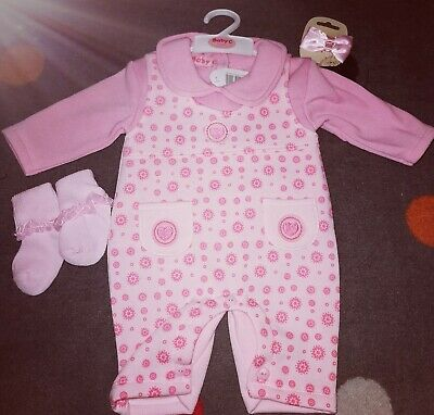 New Baby Girls Age 3-6 Months4 Piece Outfit Romper Set Romany Spanish Style cute