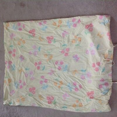 POTTERY BARN KIDS Yellow Floral Crib Baby Toddler Duvet Cover and Fitted Sheet