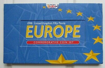 1998 UK FIFTY PENCE - EUROPE - COMMEMORATIVE COIN SET - MINT 50p - BREXIT