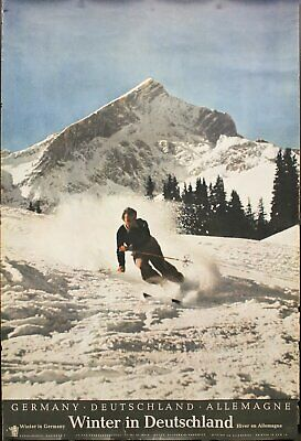 c.1960 Winter In Deutschland Germany German Travel Skiing Ski