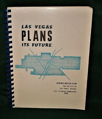 Vintage 1959 GENERAL MASTER PLAN for CITY OF LAS VEGAS NEVADA Maps & Proposal