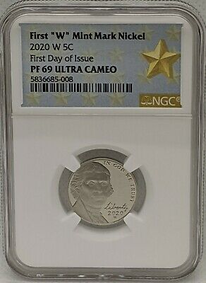 2020 W Nickel NGC PF69 Ultra Cameo - FDOI - West Point Mint - First Day of Issue