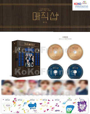 BTS 5TH MUSTER Magic Shop DVD 4 Disc Photobook Photocard ETC Official + Tracking