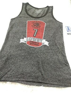 NBA Toronto Raptors #7 Lowry Womens Large By Majestic Threads Tank Top NEW WP2