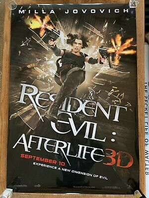 RESIDENT EVIL AFTERLIFE Poster DS 27x40 RARE Original MILLA JOVOVICH