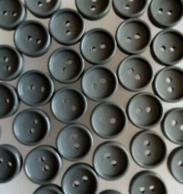 H0101 10 x 15mm Lavender Grey Round Grill Plastic Buttons