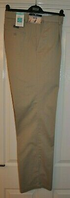 """Marks And Spencer Blue Harbour Chino Trousers Beige 34""""X L33"""" (Bnwt)Rrp £39.50"""