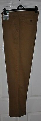 """Marks And Spencer Collection Chino Trousers Tan W42""""X L33"""" (Bnwt)Rrp £39.50"""