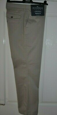 """Marks & Spencer Blue Harbour Luxury Chino Trousers 34"""" W 31""""IL(BNWT)RRP£39.50"""