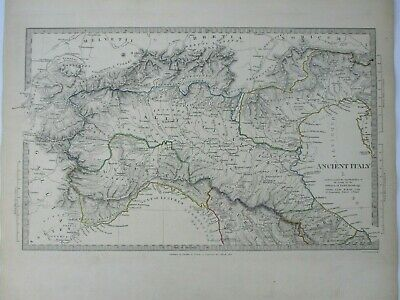 Antique map of Ancient North Italy by SUDK 1832