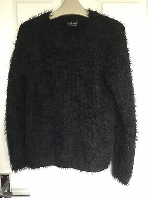 Girls Fluffy Black Jumper From Next Age 9/10