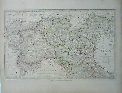 Antique map of North Italy by SUDK 1832